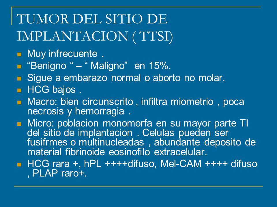 TUMOR DEL SITIO DE IMPLANTACION ( TTSI)