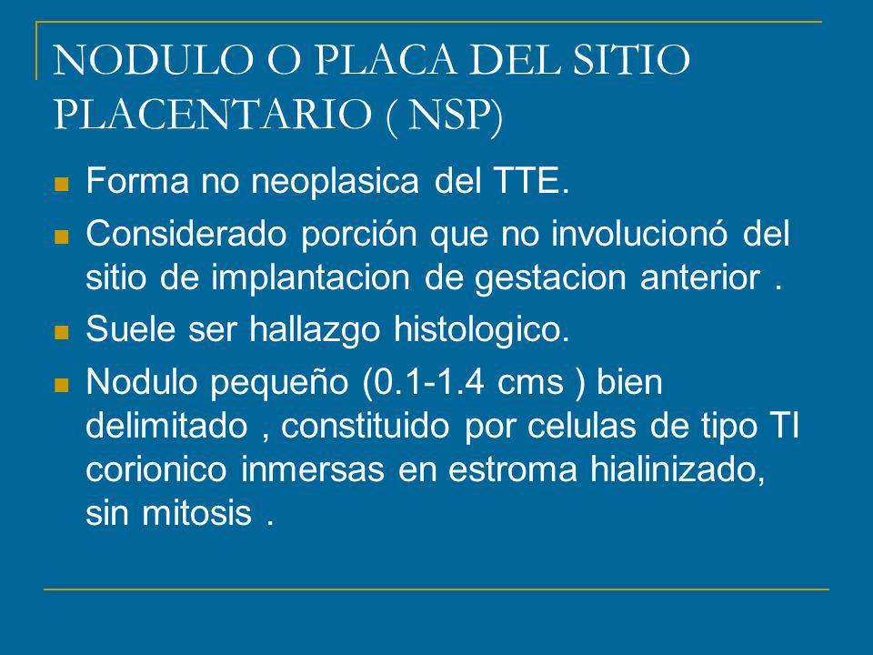 NODULO O PLACA DEL SITIO PLACENTARIO ( NSP)