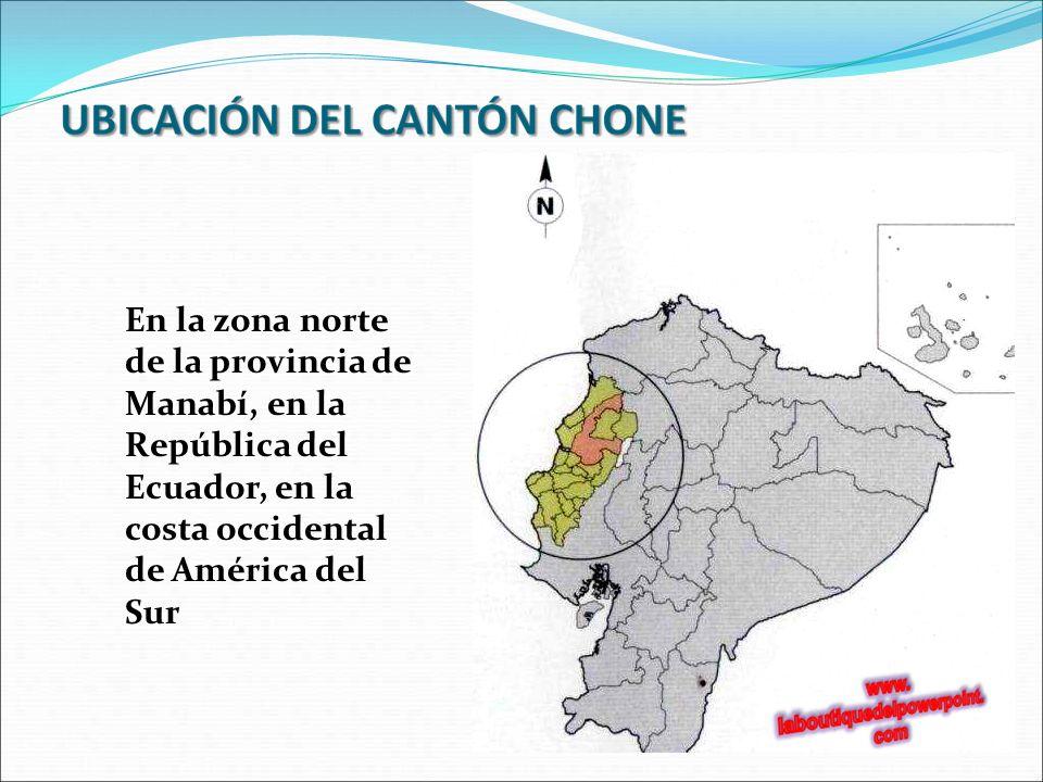 En la zona norte de la provincia de Manabí, en la República del Ecuador, en la costa occidental de América del Sur