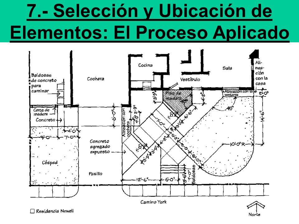 7.- Selección y Ubicación de Elementos: El Proceso Aplicado