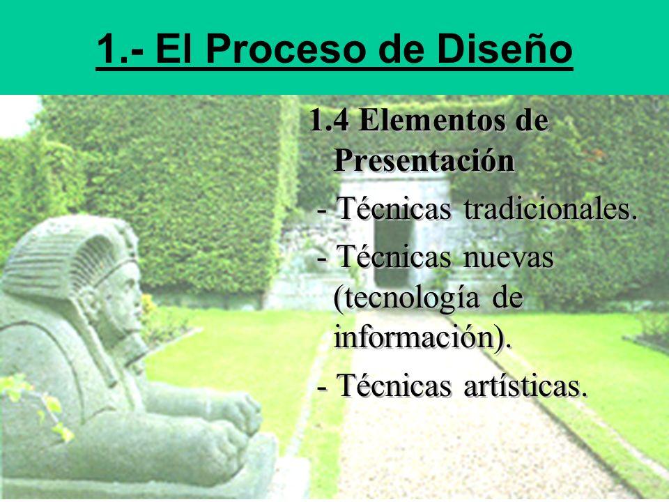 1.- El Proceso de Diseño 1.4 Elementos de Presentación