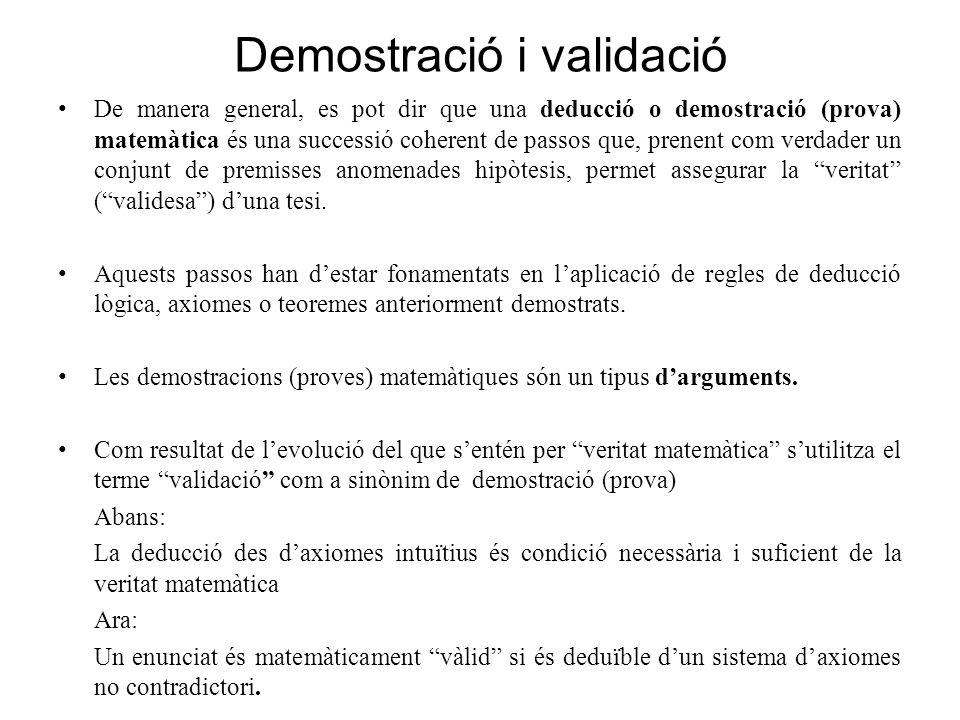 Demostració i validació