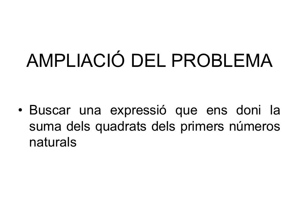 AMPLIACIÓ DEL PROBLEMA