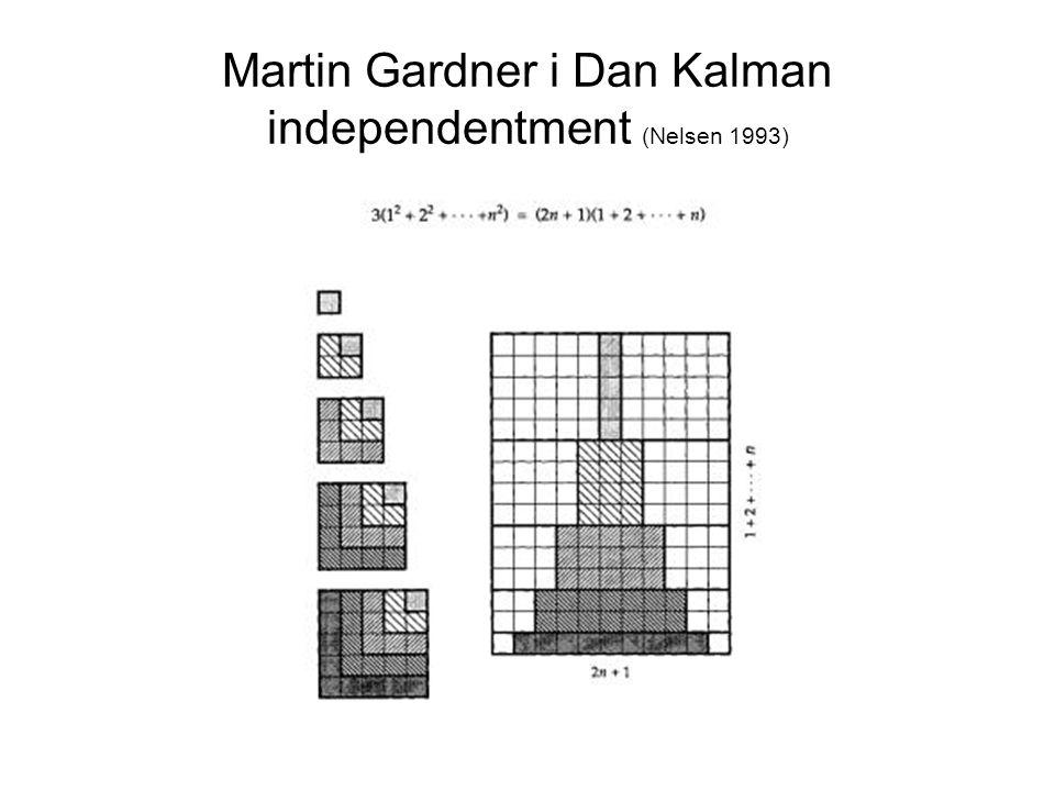 Martin Gardner i Dan Kalman independentment (Nelsen 1993)