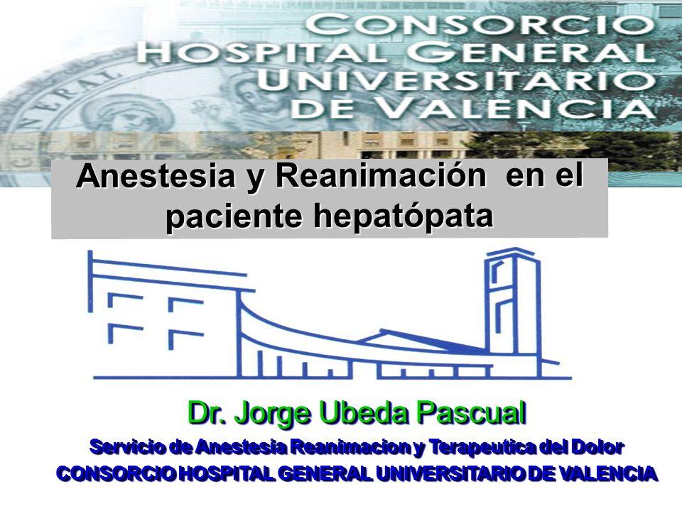 Anestesia y Reanimación en el paciente hepatópata