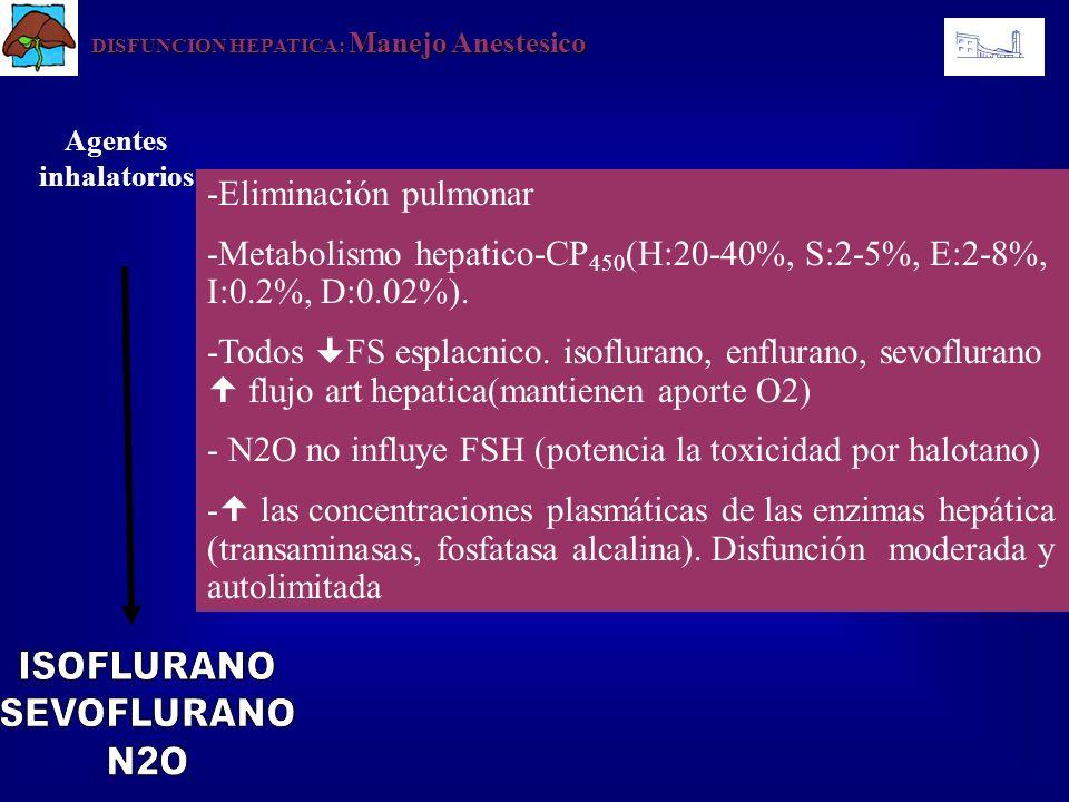 ISOFLURANO SEVOFLURANO N2O