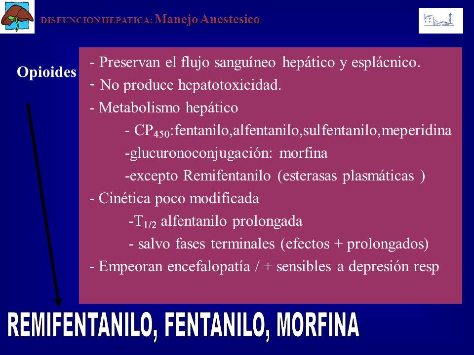 REMIFENTANILO, FENTANILO, MORFINA