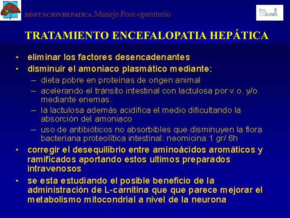 TRATAMIENTO ENCEFALOPATIA HEPÁTICA