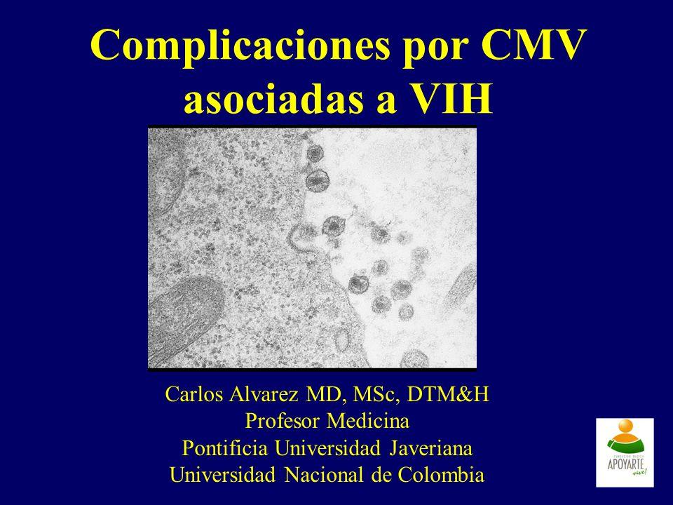 Complicaciones por CMV asociadas a VIH