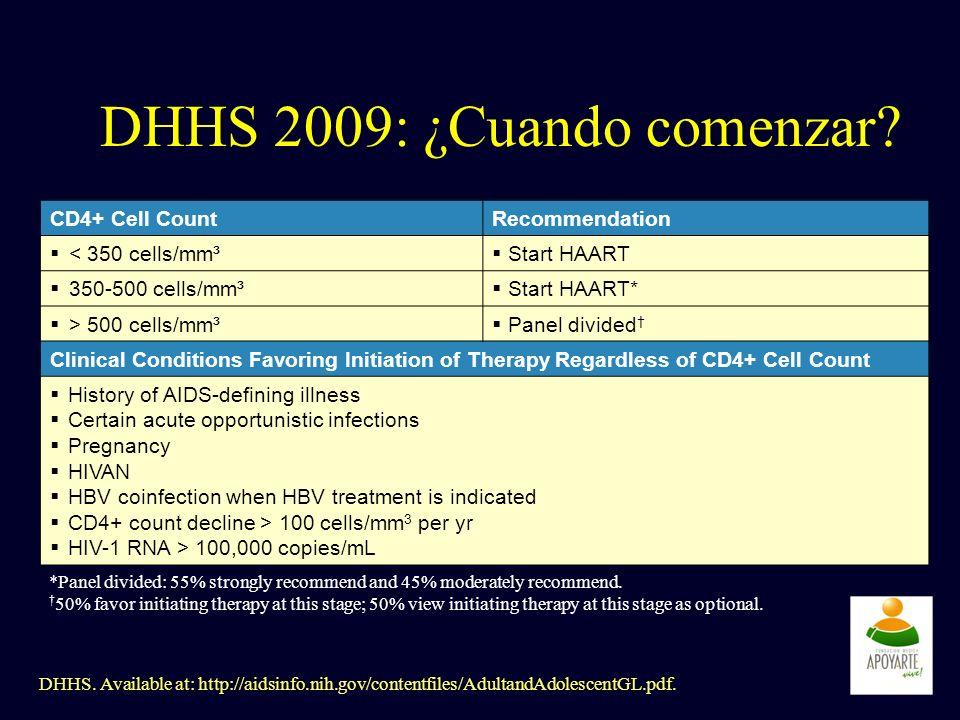 DHHS 2009: ¿Cuando comenzar