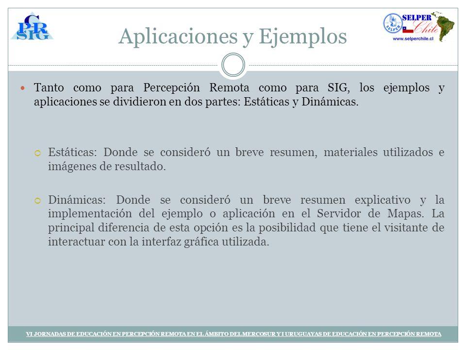 Aplicaciones y Ejemplos