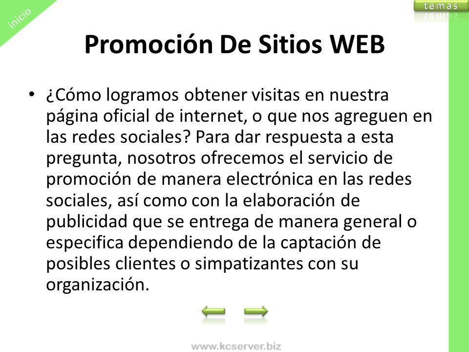Promoción De Sitios WEB