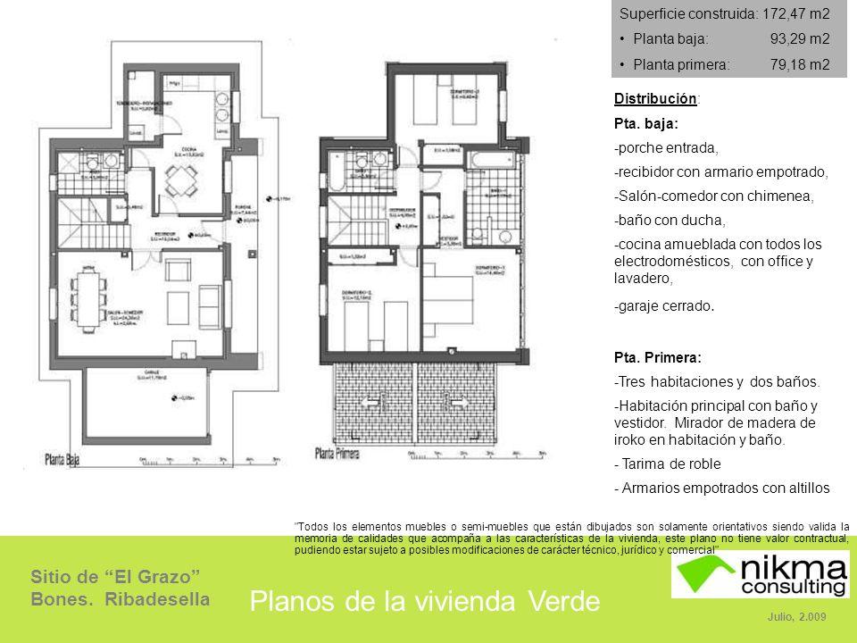 Planos de la vivienda Verde