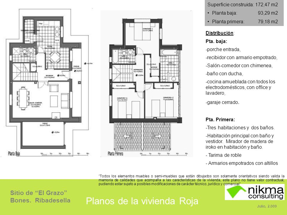 Planos de la vivienda Roja