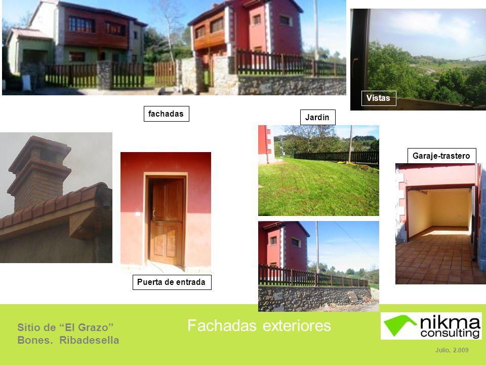 Fachadas exteriores Vistas fachadas Jardín Garaje-trastero