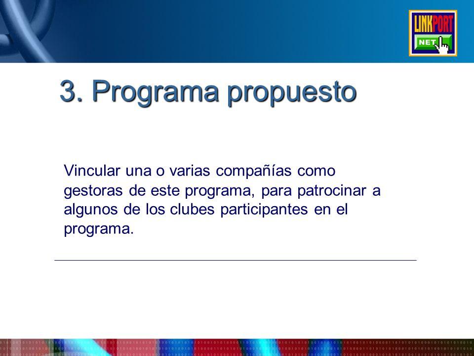 3. Programa propuesto