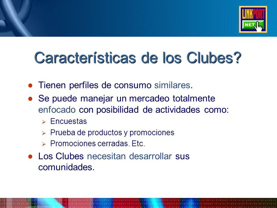 Características de los Clubes