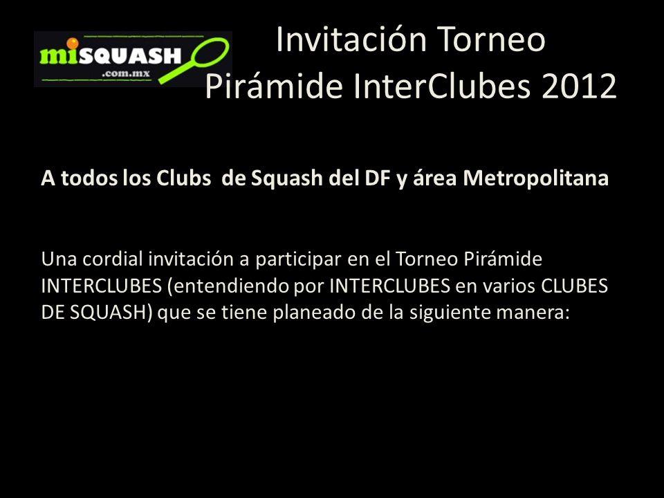 Invitación Torneo Pirámide InterClubes 2012