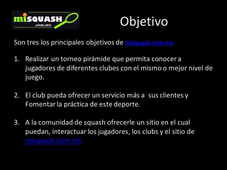 Objetivo Son tres los principales objetivos de misquash.com.mx