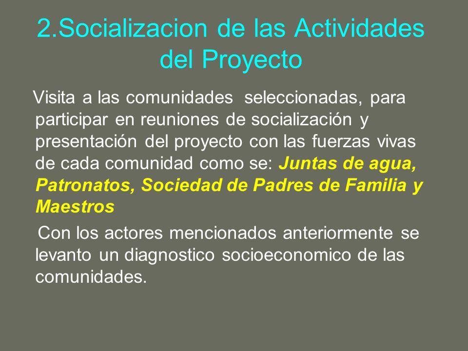 2.Socializacion de las Actividades del Proyecto