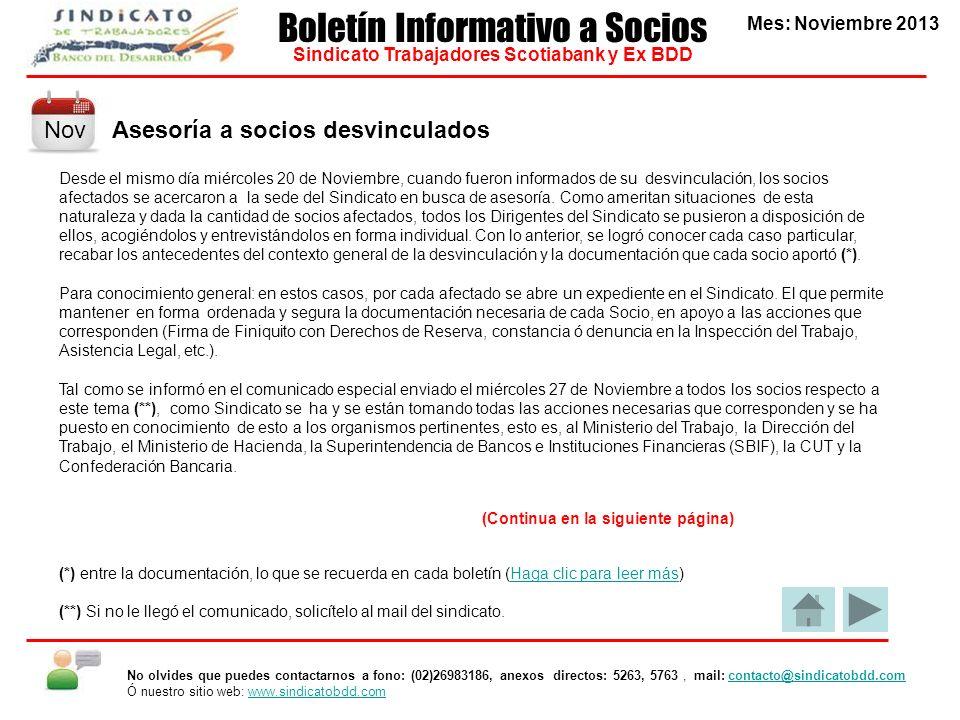 Boletín Informativo a Socios