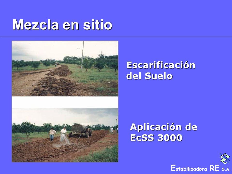 Mezcla en sitio Escarificación del Suelo Aplicación de EcSS 3000