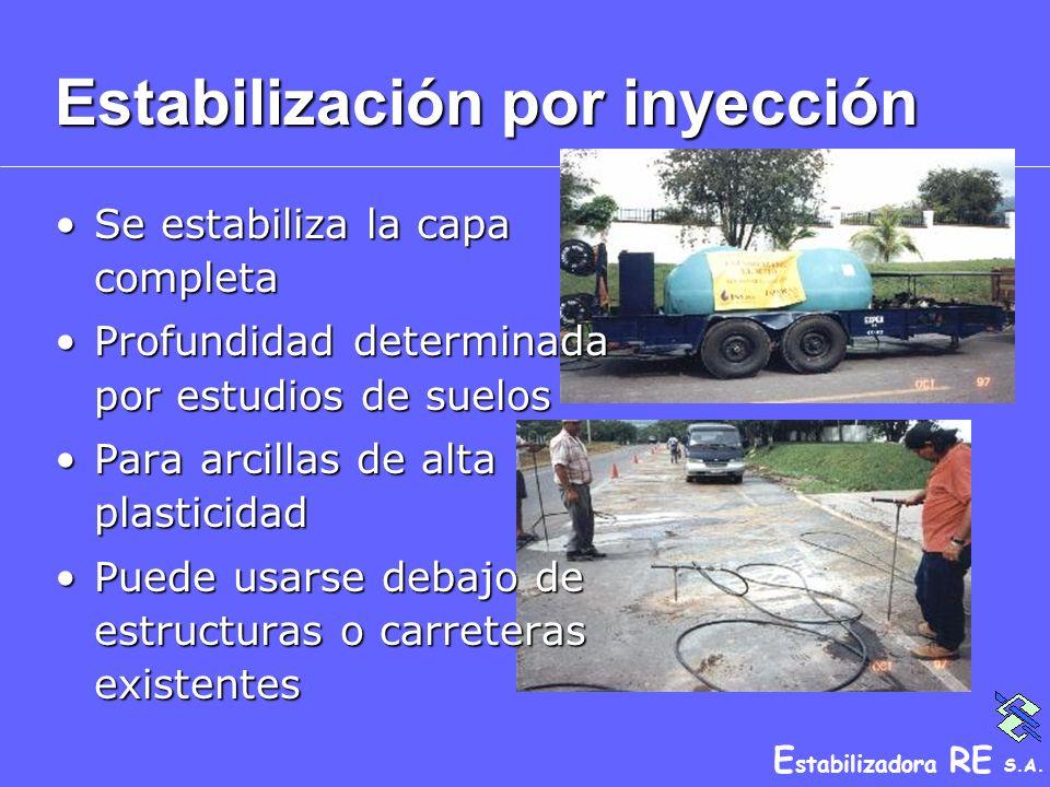 Estabilización por inyección