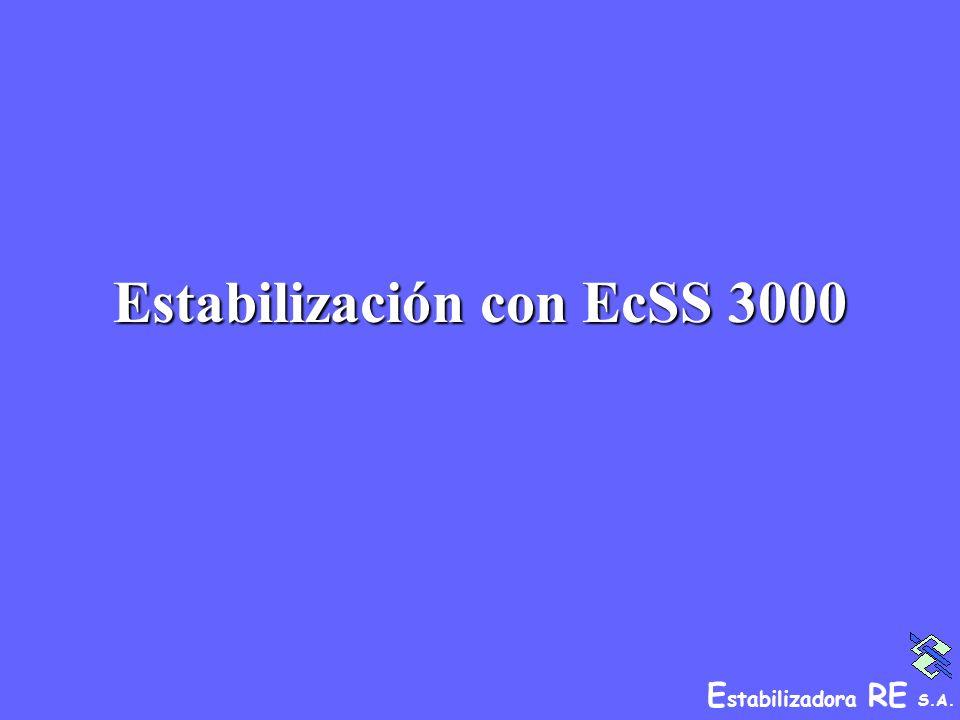 Estabilización con EcSS 3000