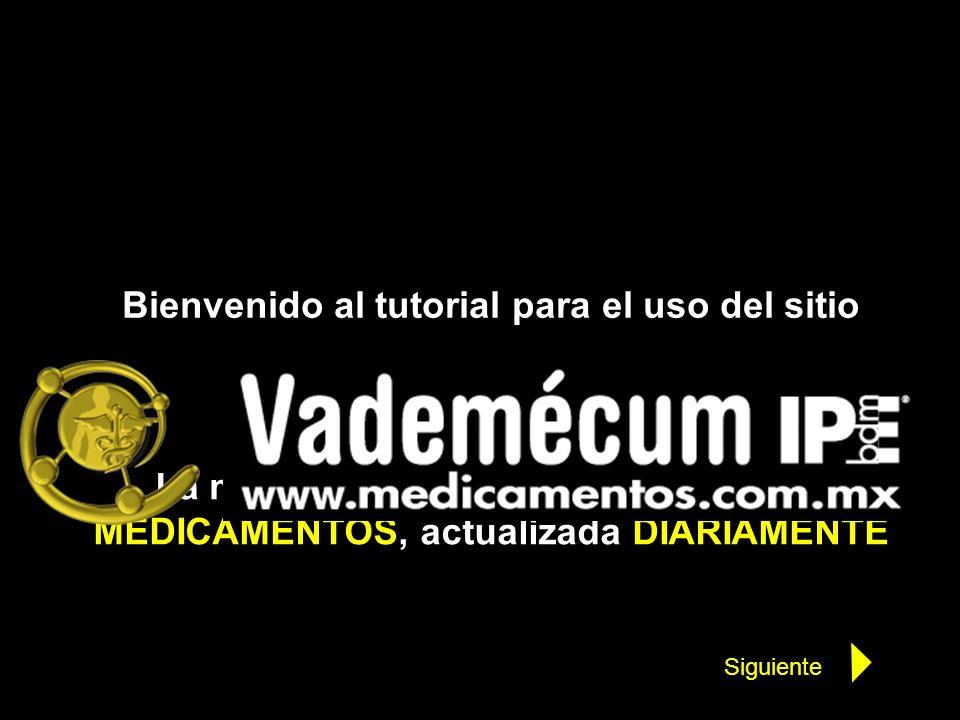 Bienvenido al tutorial para el uso del sitio