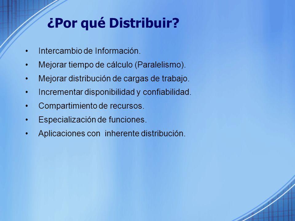 ¿Por qué Distribuir Intercambio de Información.