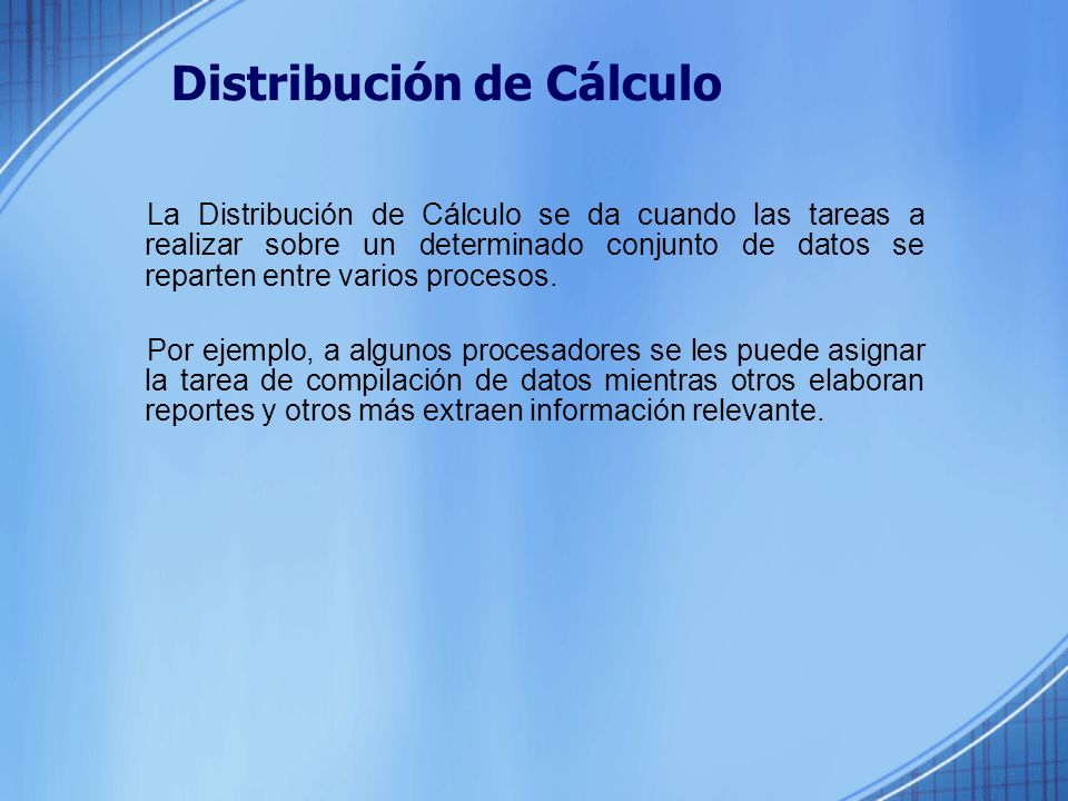 Distribución de Cálculo