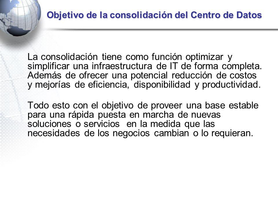 Objetivo de la consolidación del Centro de Datos