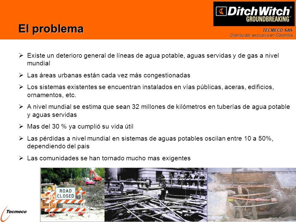 El problema Existe un deterioro general de líneas de agua potable, aguas servidas y de gas a nivel mundial.