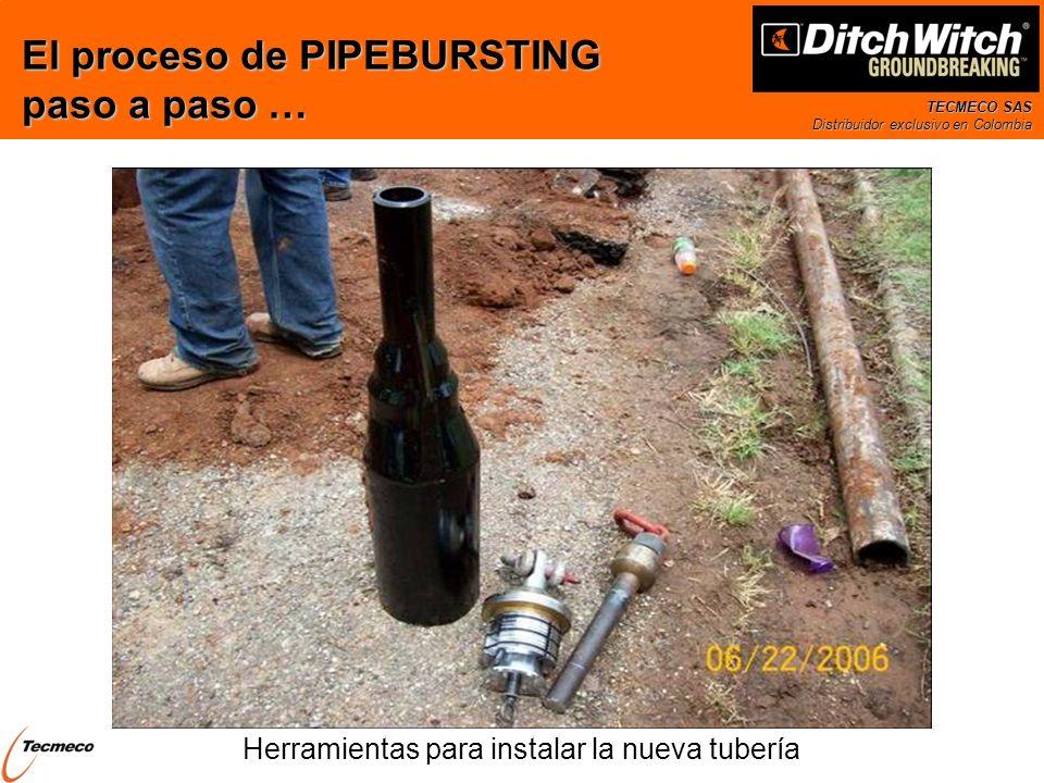 Herramientas para instalar la nueva tubería