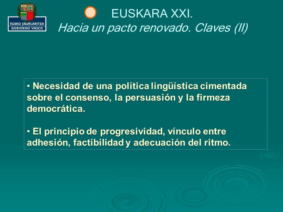 Hacia un pacto renovado. Claves (II)