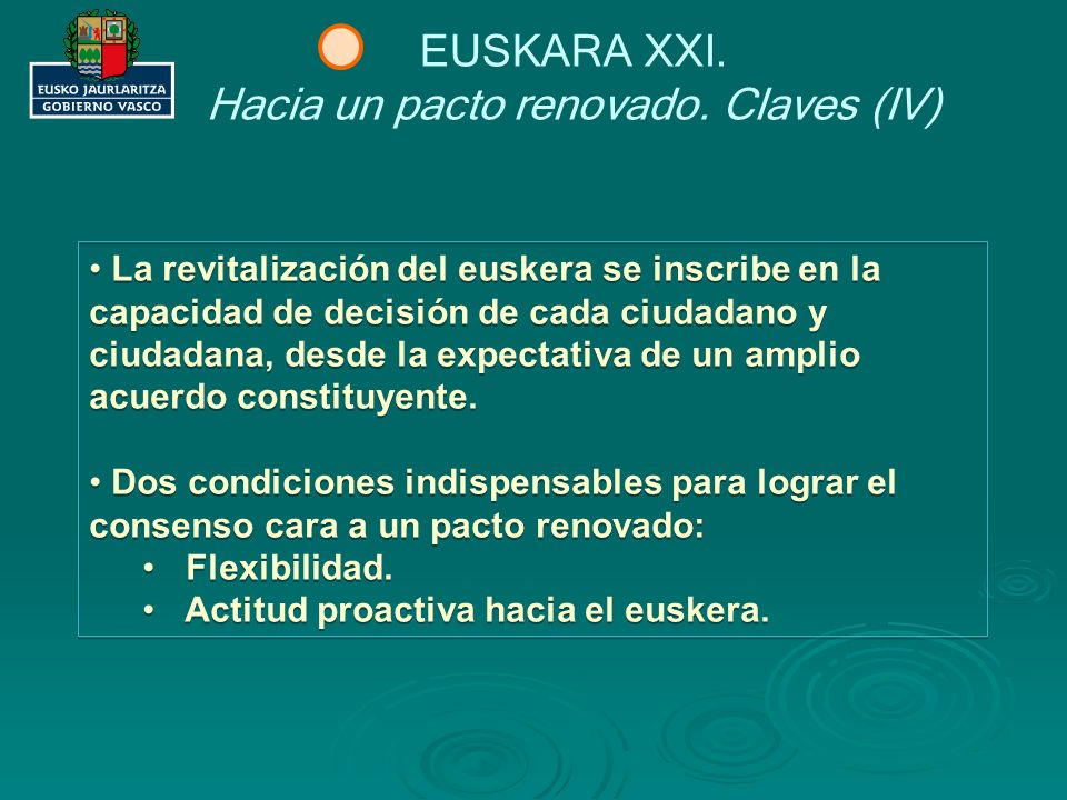Hacia un pacto renovado. Claves (IV)