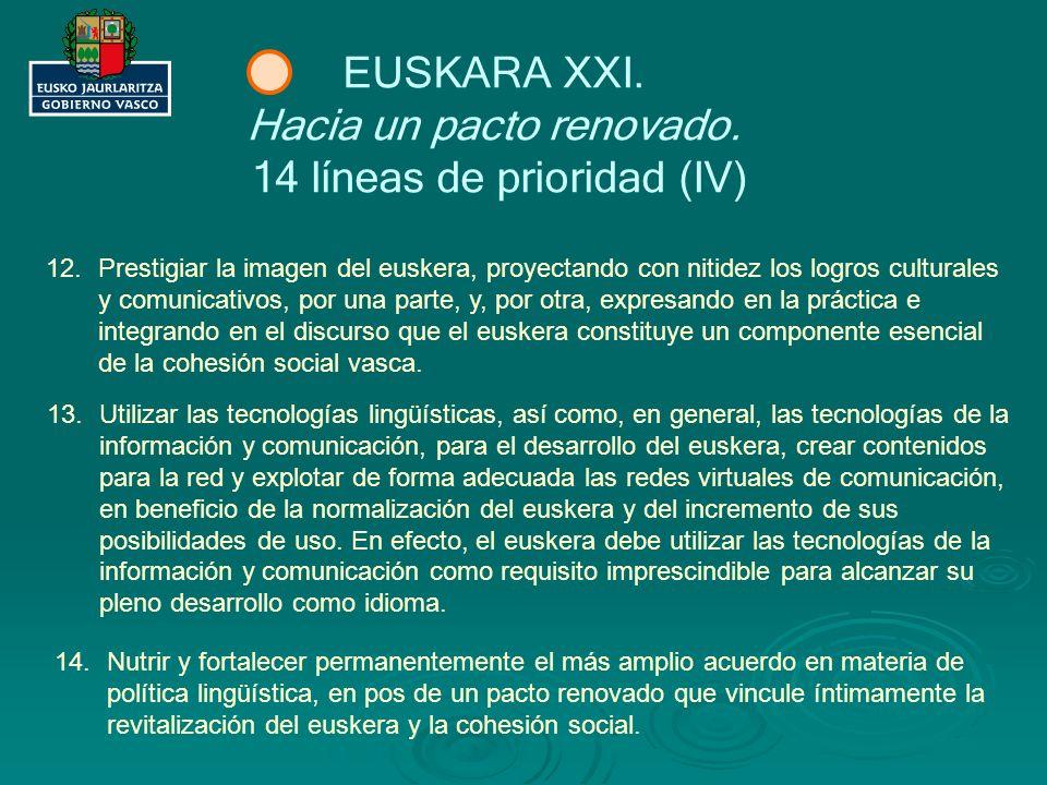 Hacia un pacto renovado. 14 líneas de prioridad (IV)