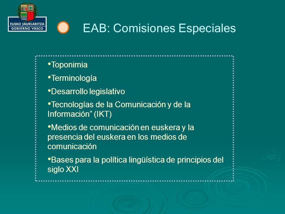 EAB: Comisiones Especiales