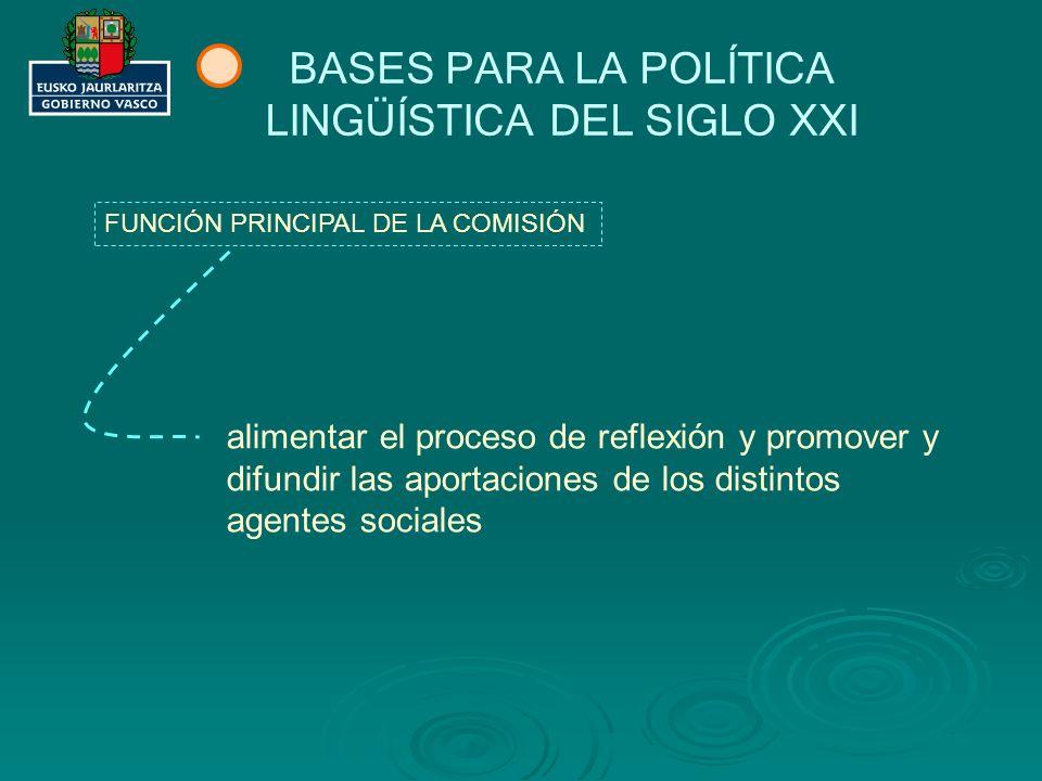 BASES PARA LA POLÍTICA LINGÜÍSTICA DEL SIGLO XXI