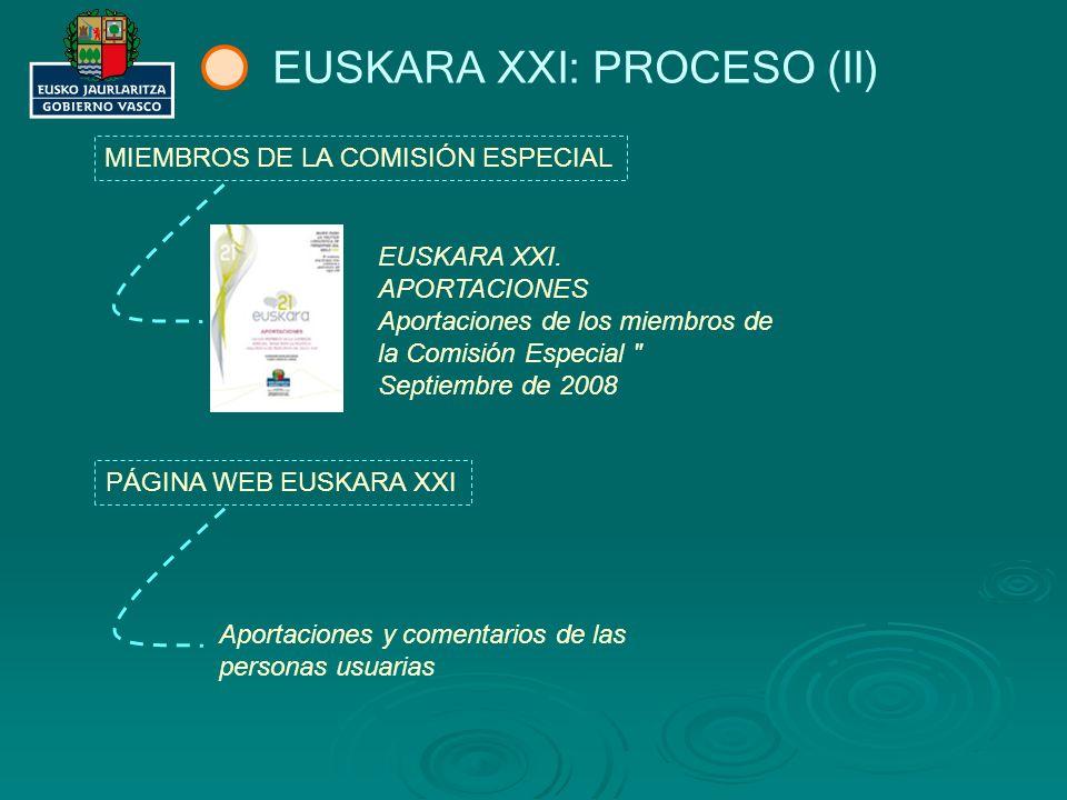 EUSKARA XXI: PROCESO (II)