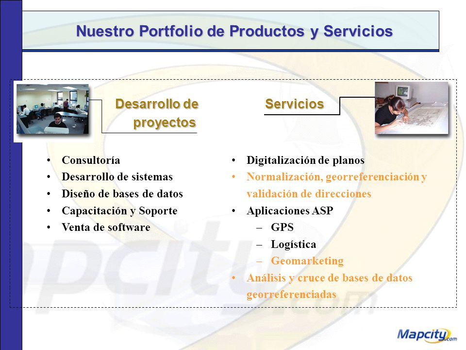 Nuestro Portfolio de Productos y Servicios