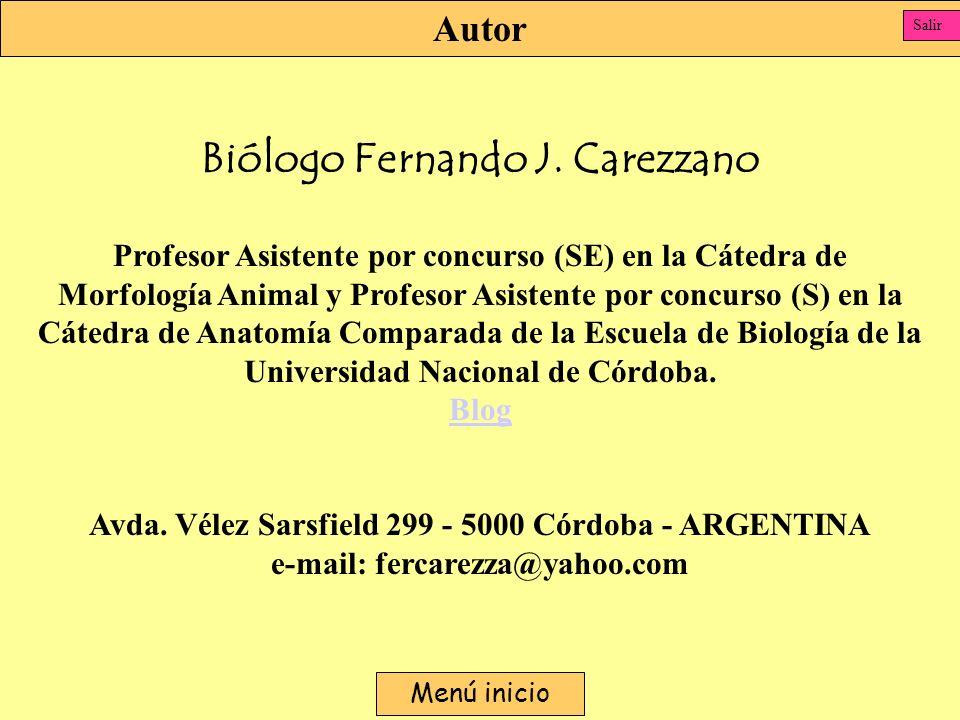 Biólogo Fernando J. Carezzano