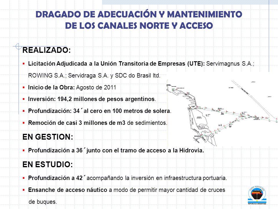 DRAGADO DE ADECUACIÓN Y MANTENIMIENTO DE LOS CANALES NORTE Y ACCESO
