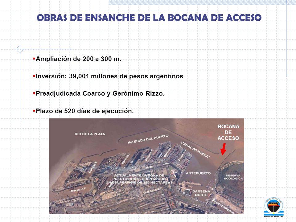 OBRAS DE ENSANCHE DE LA BOCANA DE ACCESO