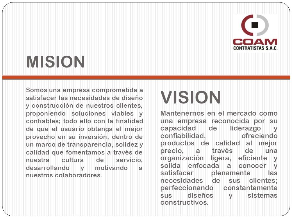 MISION VISION.