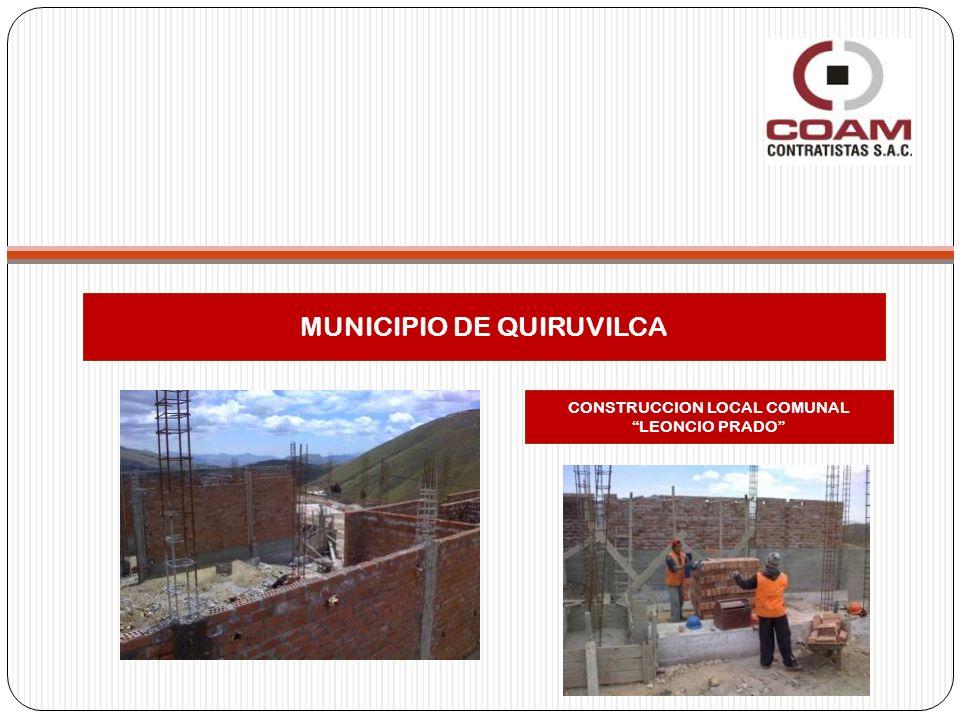 MUNICIPIO DE QUIRUVILCA