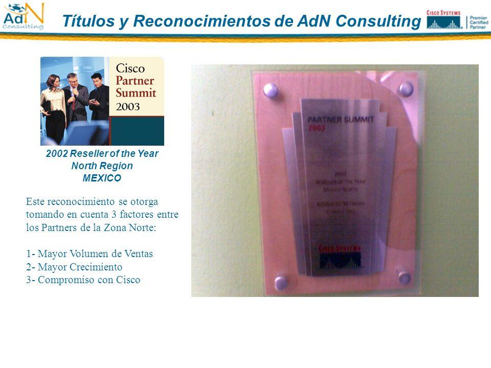 Títulos y Reconocimientos de AdN Consulting