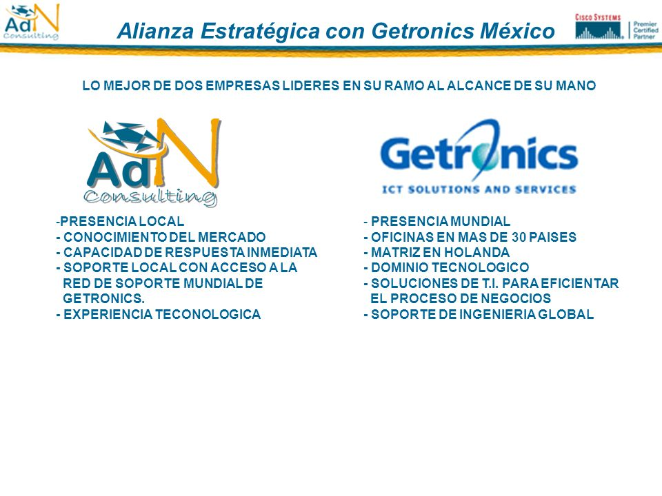 Alianza Estratégica con Getronics México