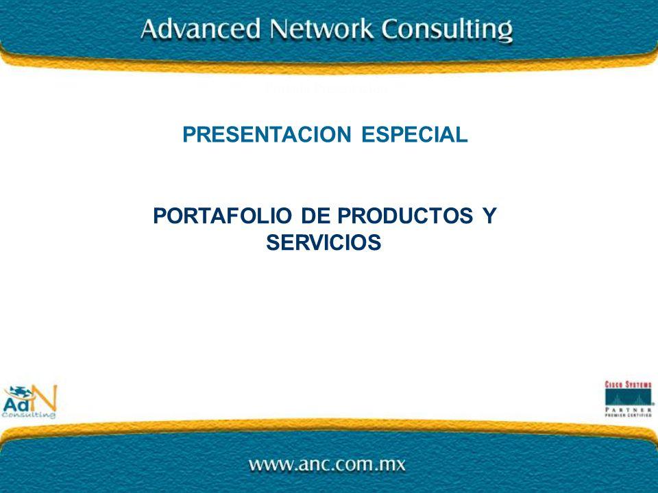PRESENTACION ESPECIAL PORTAFOLIO DE PRODUCTOS Y SERVICIOS