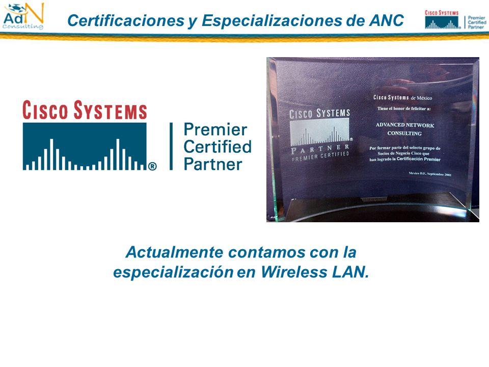 Certificaciones y Especializaciones de ANC